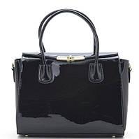 Женская лакированная сумка W805 black купить женскую лакированную сумку, фото 1