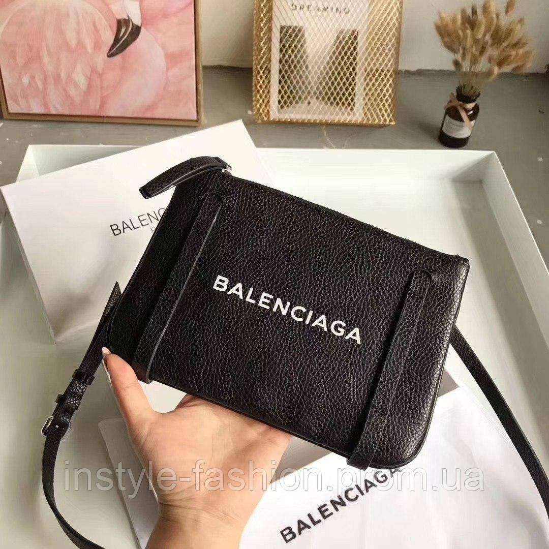 26724e5da8a3 Сумка-клатч через плечо копия Balenciaga Баленсиага качественная эко-кожа  черный