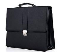 Мужской портфель 7217 черный, пошив портфелей под заказ, фото 1