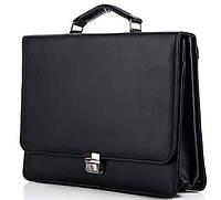 Мужской портфель 7227 черный. Пошив портфелей под заказ, фото 1