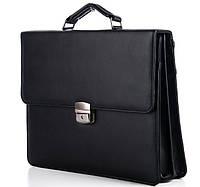 Чоловічий портфель 7232 чорний Ділові портфелі, пошиття під замовлення, фото 1