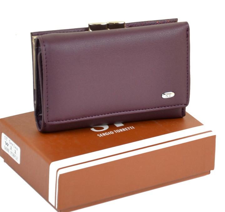 a463396a6fa0 Женский кошелек SERGIO TORRETTI W11 dark-purple дешево кошельки женские  кожзам оптом и в розницу