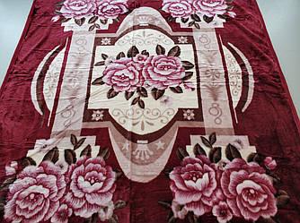 Плед акриловый двуспальный TRUE LOVE цветы колонна
