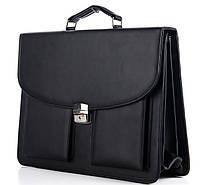 Мужской портфель 7229 черный. Пошив портфелей под заказ