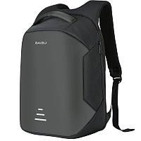 Рюкзак Baibu c защитой от карманников с USB и зарядным устройством, черный, фото 1