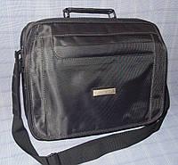 8b09066b1fe2 Мужская сумка Jia Jun 8805 для документов А4 серая ткань противоударная два  отдела плечевой ремень 34x25х13см