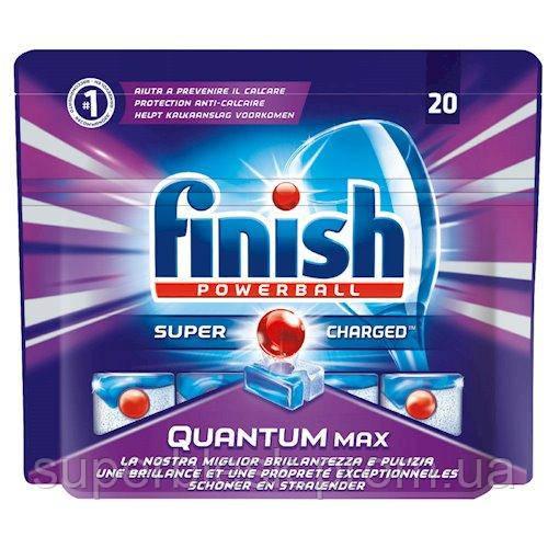 Таблетки для посудомоечных машин FINISH QUANTUM 20 шт, Powerball Max
