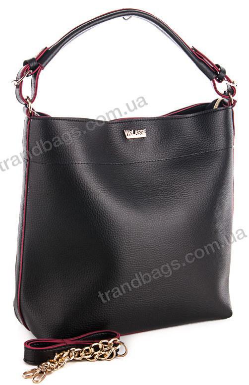 bed48e4cb5e3 Женская сумка WeLassie 54108 черный женские сумки оптом и в розницу в  Одессе км