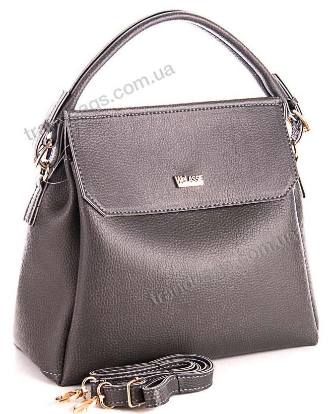 d8162c021853 Женская сумка WeLassie 54001 серый женские сумки оптом и в розницу в Одессе  км