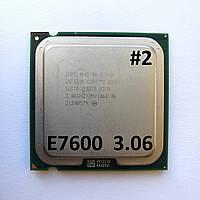 Процессор ЛОТ#2 Intel® Core™2 Duo E7600 R0 SLGTD 3.06GHz 3M Cache 1066 MHz FSB Socket 775 Б/У, фото 1