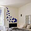Виниловые наклейки Летящие бабочки набор (интерьерные декоративные бабочки для стен и стекла вихрь мотылек) матовая 565х1000 мм