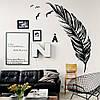 Виниловые наклейки Перо интерьерная декоративная наклейка (птицы чайки перья виниловый стикер) матовая 400x1300 мм
