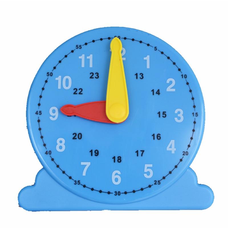Лабораторная модель механических часов, настольная (24 часа, часовая, минутная стрелки, лабораторная)