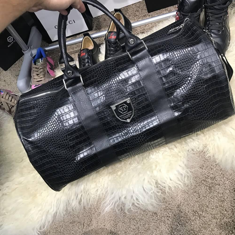 d15e57e1 Дорожная сумка Softsided Luggage Philipp Plein Heaven Black (реплика ...