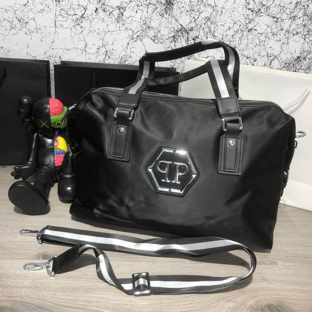 49bb88c3eb6e Дорожная сумка Softsided Luggage Philipp Plein Rock PP Black (реплика)
