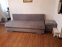 Перетяжка дивана и пуфа
