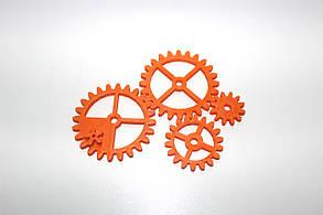 Набор шестеренок для Бизиборда по методике Монтессори Оранжевые
