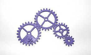 Набор шестеренок для Бизиборда по методике Монтессори Фиолетовые