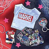 Пижама женская Marvel шелковая (футболка + шорты)