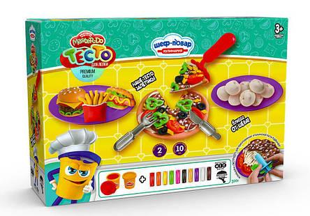 Набор Тесто для лепки Шеф-повар TMD-10-01, TMD-10-02, TMD-10-03 Данко-тойс, фото 2