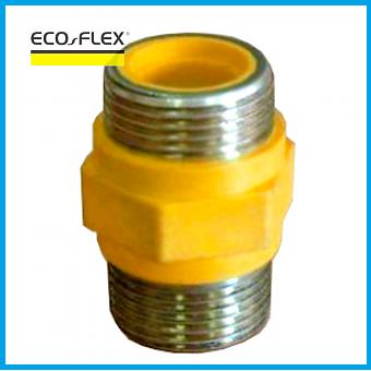 """Диэлектрическая муфта для газа Eco-Flex DN20, 1/2"""" НН, фото 2"""