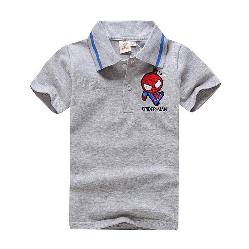 Дитяча футболка поло з логотипом Spider-Man сіра