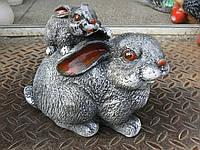 Фигурка для сада Зайчиха с зайчиком 19 см.