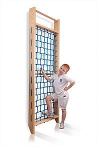 Детская деревянная Шведская стенка  Гладиаторская сетка  Sport 6- 220 SportBaby