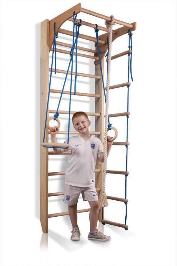 Акция! Детская деревянная Шведская стенка  Спортбейби Детский спортивный уголок  «Комби-2-220» SportBaby
