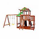 Уличная цветная детская площадка песочница с горкой качелями канатом горкой для скалолазания для дачи для дома, фото 2