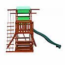 Уличная цветная детская площадка песочница с горкой качелями канатом горкой для скалолазания для дачи для дома, фото 4