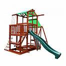 Уличная цветная детская площадка песочница с горкой качелями канатом горкой для скалолазания для дачи для дома, фото 8