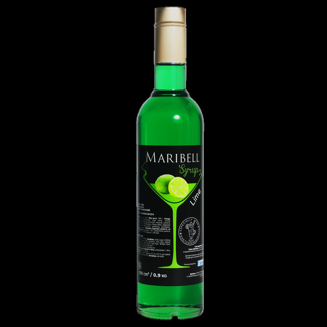 """Сироп коктейльный Maribell """"Лайм"""" 700мл"""