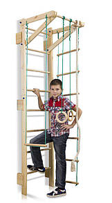 Акція! Дерев'яна шведська стінка Дитячий спортивний куточок Тінейджер Teenager Sport 2-220 SportBaby