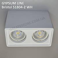 Гипсовый точечный светильник Gypsum Line - Bristol S1804-2 WH (белый, накладной) под лампу MR16, G5.3