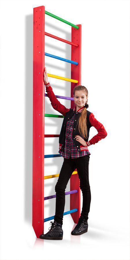 Акция! Детская деревянная шведская стенка Спортивный уголок 0-240 (barby) SportBaby