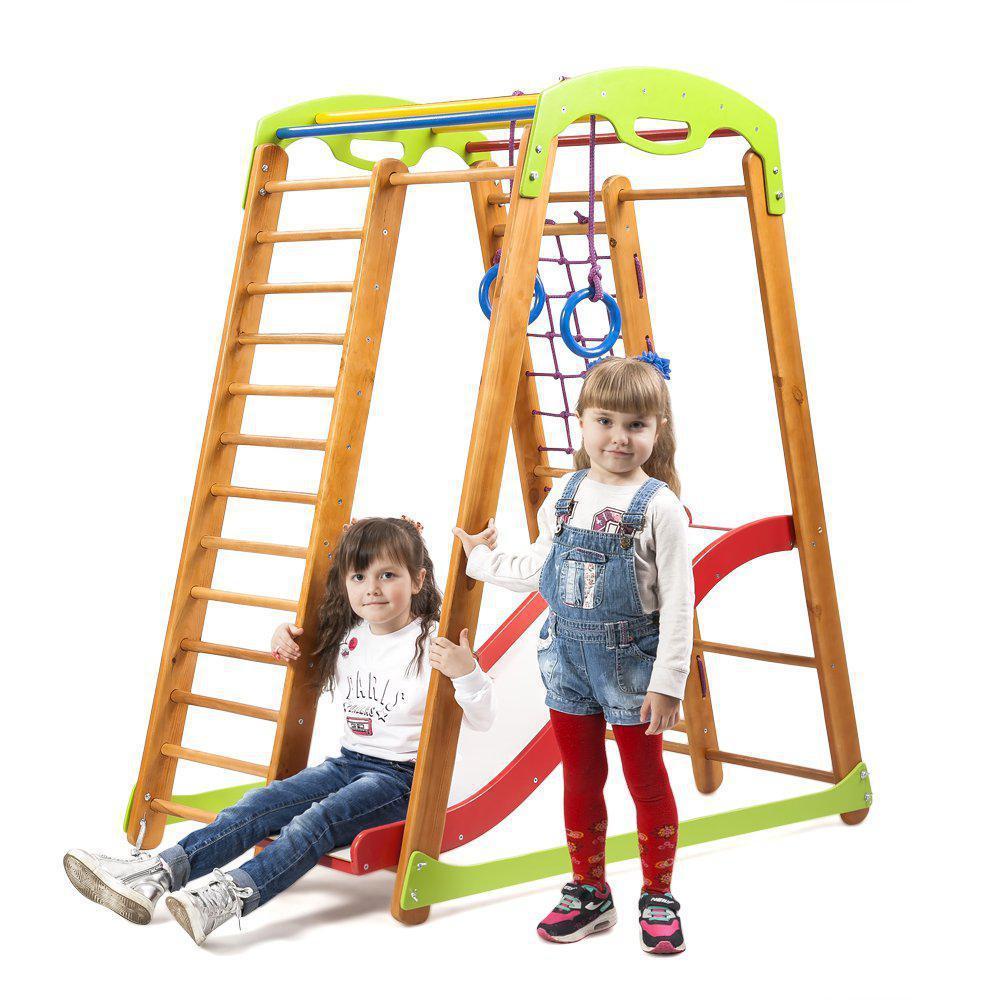 Акция! Деревянный детский  Спортивный комплекс для малышей от 2-х лет «Кроха - 2 Plus 1»