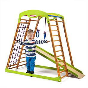 Акція! Дерев'яний дитячий Спортивний комплекс для малюків від 2-х років BabyWood SportBaby