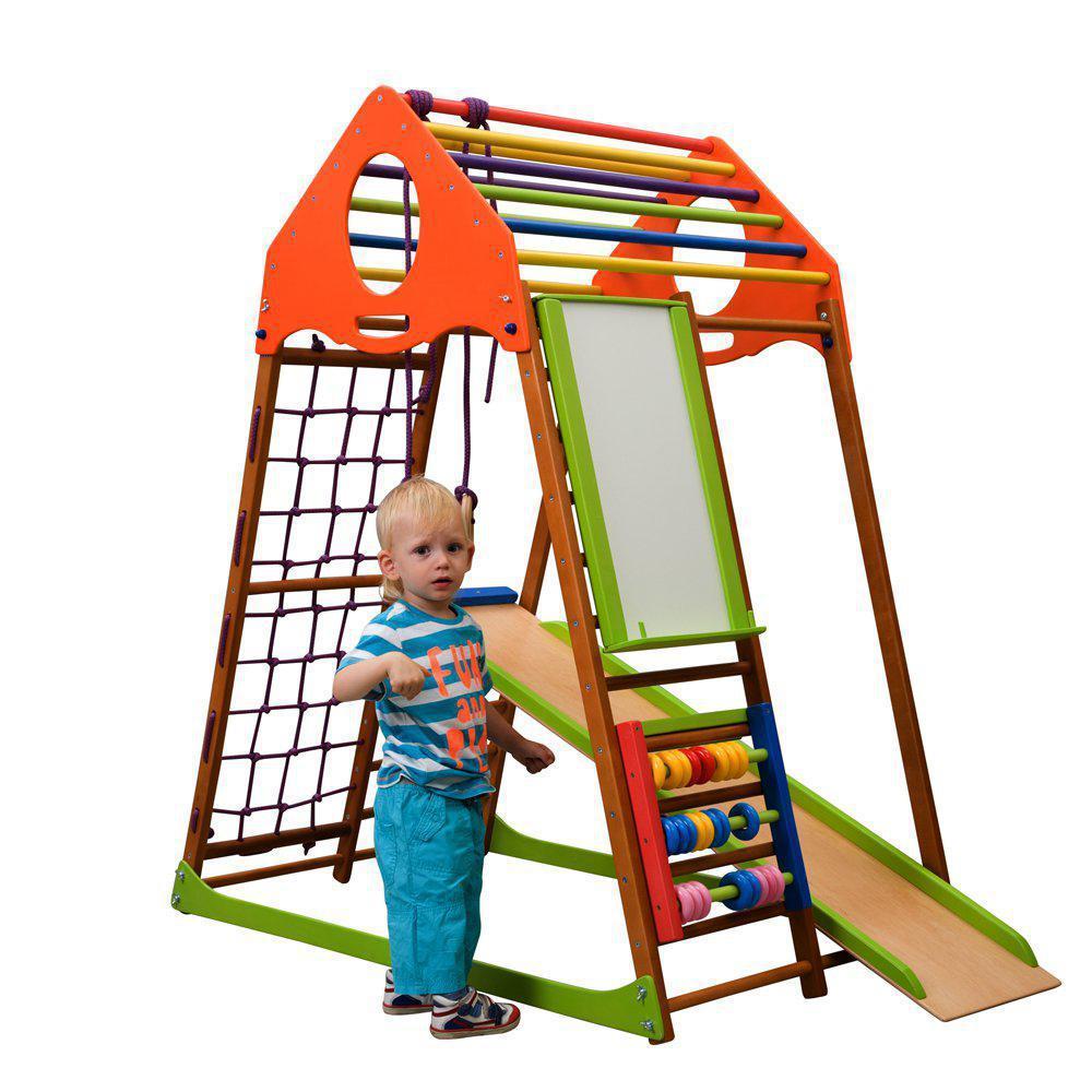 Акция! Деревянный детский  Спортивный комплекс для малышей от 2-х лет KindWood Plus  SportBaby