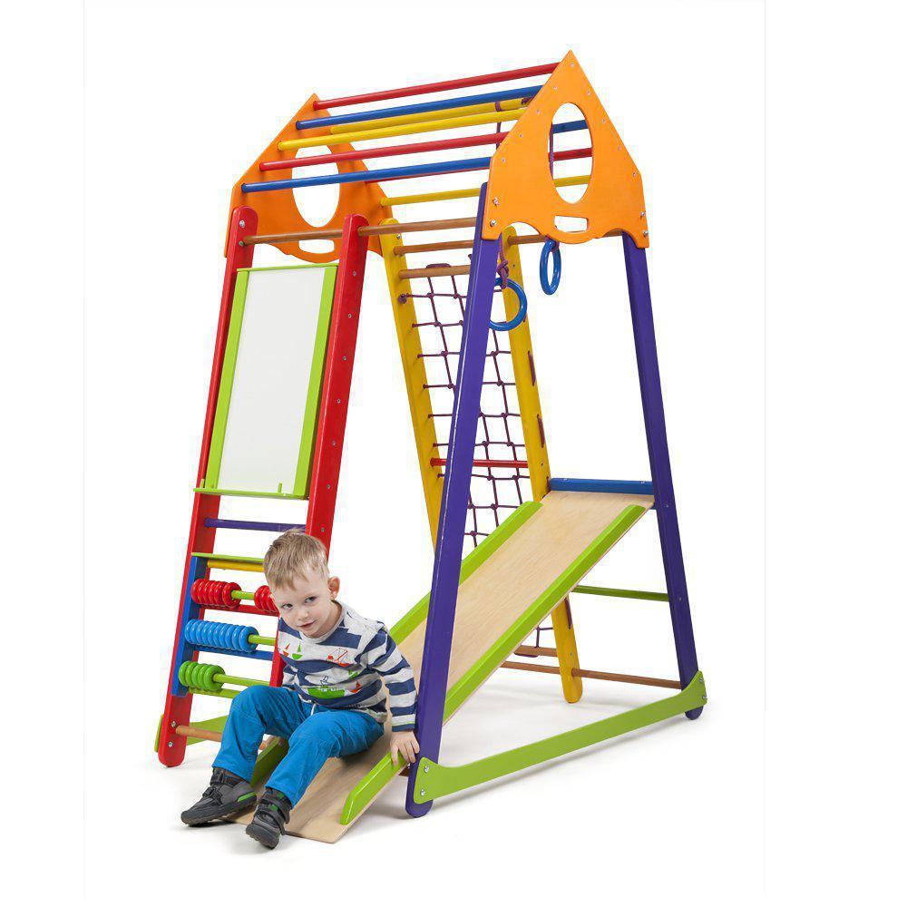 Акция! Деревянный Детский спортивный комплекс BambinoWood Color Plus SportBaby