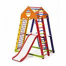 Акция! Деревянный Детский спортивный комплекс для квартиры с горкой Спорбейби BambinoWood Color Plus 2, фото 5
