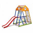 Акция! Деревянный Детский спортивный комплекс с горкой Спортбейби KindWood Color Plus 2 SportBaby, фото 5