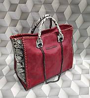 Сумка женская копия Stella MCcartney Стелла МКкартни ткань набук Турция цвет красный
