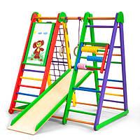 Акция! Деревянный детский Спортивный комплекс для дома для малышей Спортбейби «Эверест»