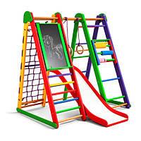 Акция! Деревянный детский Спортивный комплекс для дома для малышей Спортбейби «Эверест-2»