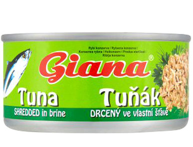 Тунец Giana Tuna измельченный в собственном соку 185 г