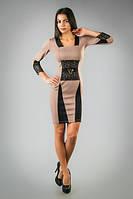 Стильное платье с вставками из кружева, фото 1