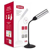 Светодиодная настольная лампа MAXUS 1-DKL-002-05 8W черная 3000-5700K Код.55136