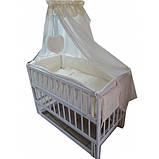 """Акция! Комплект """"Малыш с комодом карапуз"""" белый: Комод+ кроватка маятник+ матрас кокос + постельный набор, фото 6"""