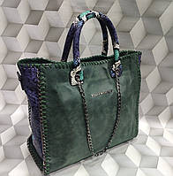 Сумка женская копия Stella MCcartney Стелла МКкартни ткань набук Турция цвет зеленый, фото 1